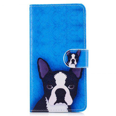Store Dog Painting Card Lanyard Pu Leather Cover for LG G6