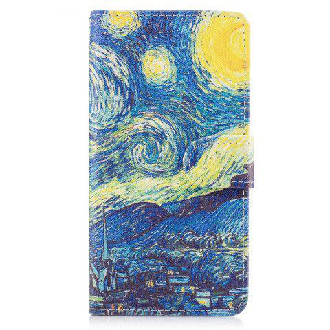 Discount Dog Painting Card Lanyard Pu Leather Cover for LG G6