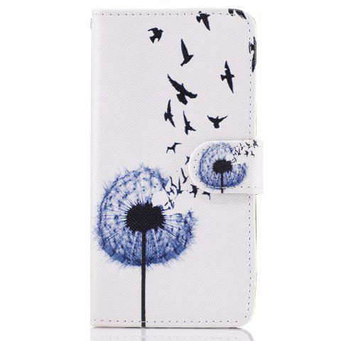 Hot Dandelion Painting Card Lanyard Pu Leather Cover for LG G6