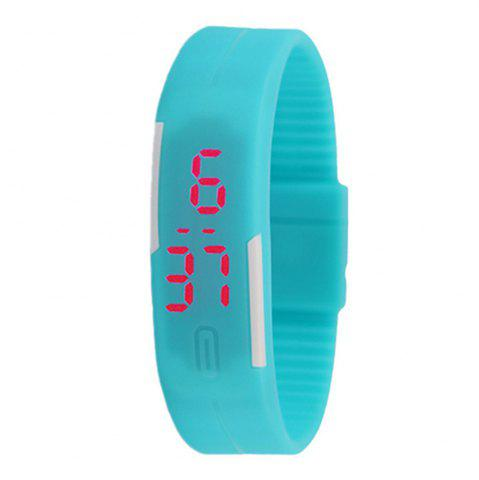 Latest Silicone Rubber Gel Jelly LED Wrist Watch Bracelet Men Women