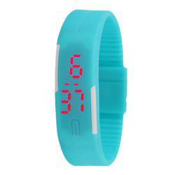Silicone Rubber Gel Jelly LED Wrist Watch Bracelet Men Women -