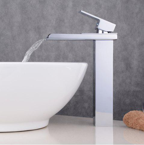 Fancy Chrome Contemporary Waterfall Bathroom Sink Lavatory Vessel Mixer Faucet