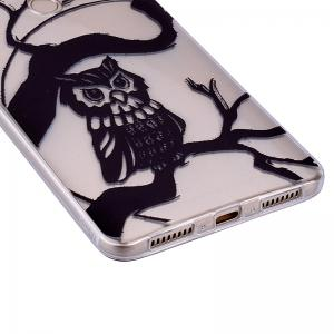 Owl Pattern Soft TPU Clear Case for Huawei Mate 9 -