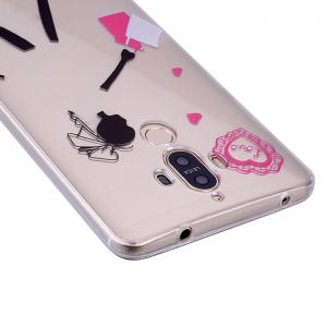 Young Girl Pattern Soft TPU Clear Case for Huawei Mate 9 -