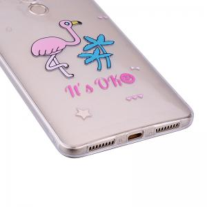 Ostrich Pattern Soft TPU Clear Case for Huawei Mate 9 -