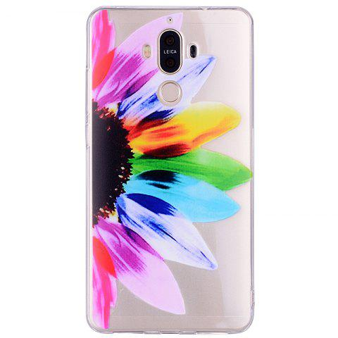 Trendy Sunflower Pattern Soft TPU Clear Case for Huawei Mate 9