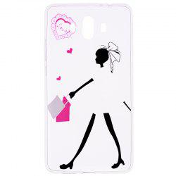 Young Girl Pattern Soft TPU Clear Case for Huawei Mate 10 -