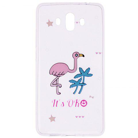 Outfits Ostrich Pattern Soft TPU Clear Case for Huawei Mate 10