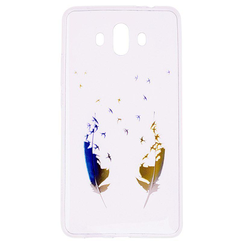 Discount Feather Pineapple Pattern Soft TPU Clear Case for Huawei Mate 10