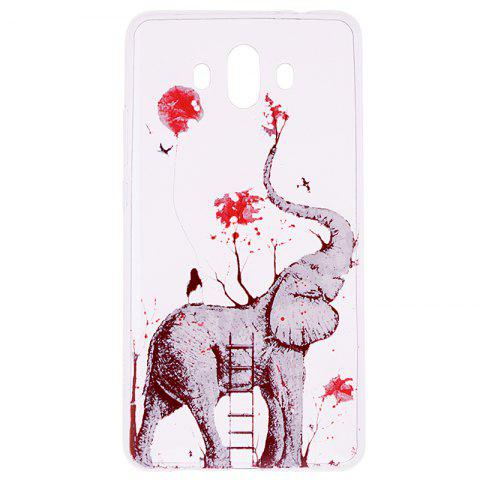 Latest Elephant Pattern Soft TPU Clear Case for Huawei Mate 10