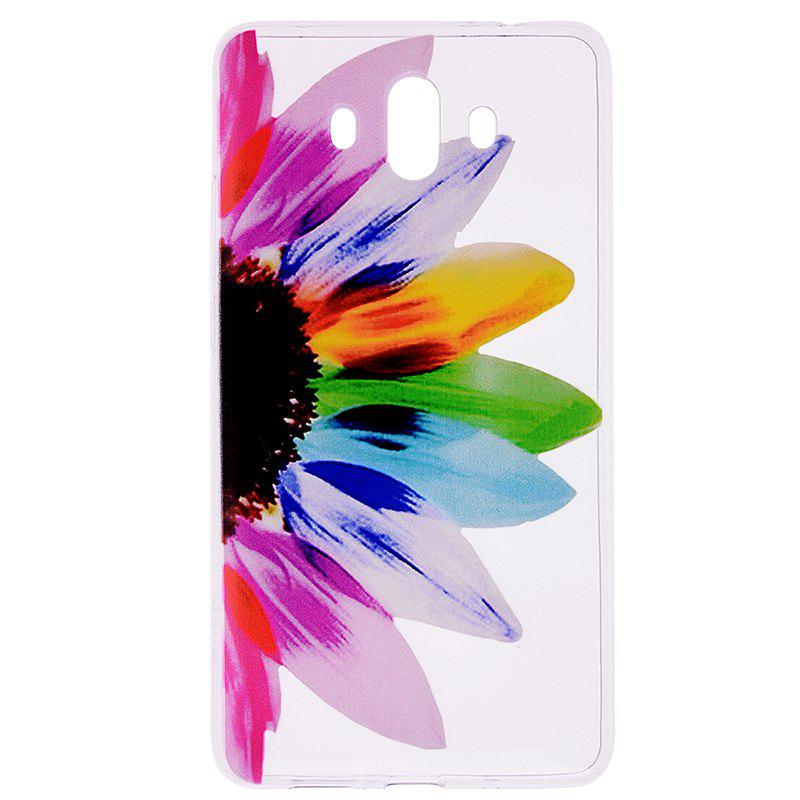 Outfits Sunflower Pattern Soft TPU Clear Case for Huawei Mate 10