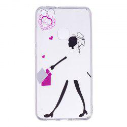 Young Girl Pattern Soft TPU Clear Case for Huawei P10 Lite -