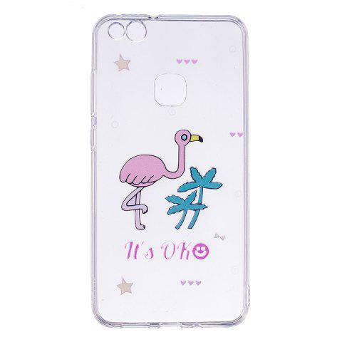 Outfit Ostrich Pattern Soft TPU Clear Case for Huawei P10 Lite
