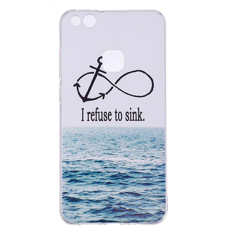 Outfit Sea Pattern Soft TPU Clear Case for Huawei P10 Lite