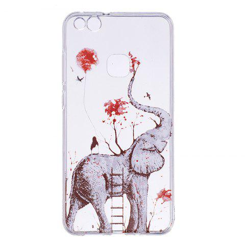 Unique Elephant Pattern Soft TPU Clear Case for Huawei P10 Lite
