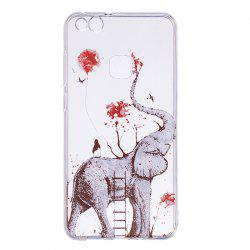 Elephant Pattern Soft TPU Clear Case for Huawei P10 Lite -