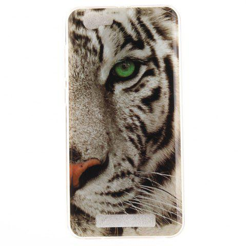 Outfit The Tiger Pattern Soft Clear IMD TPU Phone Casing Mobile Smartphone Cover Shell Case for ZTE Blade A610