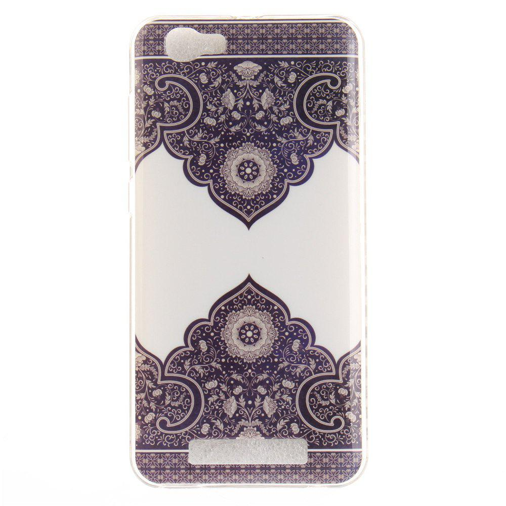 Outfits Diagonal Totem Soft Clear IMD TPU Phone Casing Mobile Smartphone Cover Shell Case for ZTE Blade A610