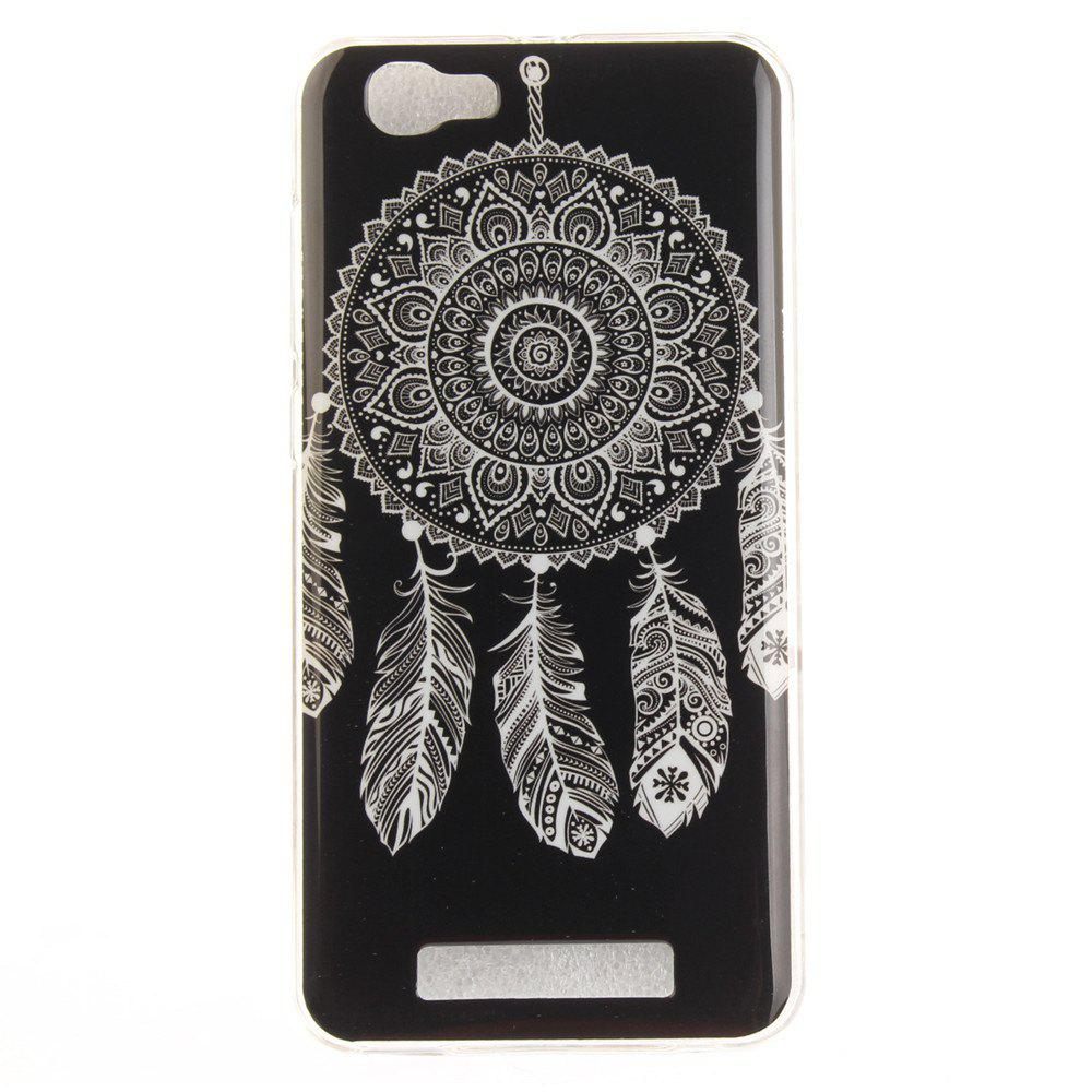 Shops Black Wind Chimes Soft Clear IMD TPU Phone Casing Mobile Smartphone Cover Shell Case for ZTE Blade A610