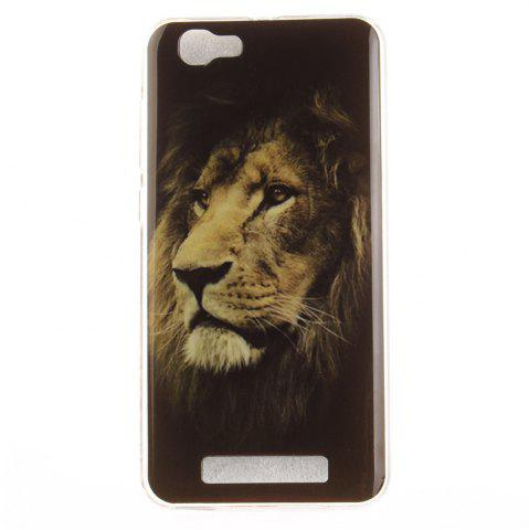 Affordable The Lion Pattern Soft Clear IMD TPU Phone Casing Mobile Smartphone Cover Shell Case for ZTE Blade A610