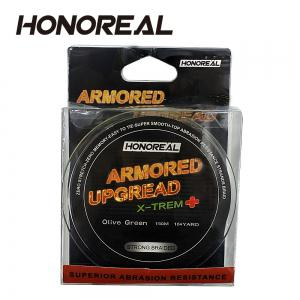 HONOREAL 0.165mm 150m Super Strong Abrasion Resistant  Grey and Green Color 4 Strands PE Braided Fishing Line -