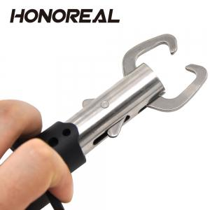 HONOREAL Strong Stainless Steel One-handed Operation Fish Lip Grip with EVA Handle and Wrist Lanyard -