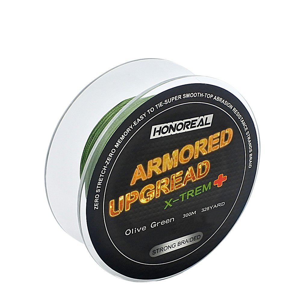 Chic HONOREAL 0.309mm 300m Super Strong Abrasion Resistant Long Grey and Green Color 4 Strands PE Braided Fishing Line