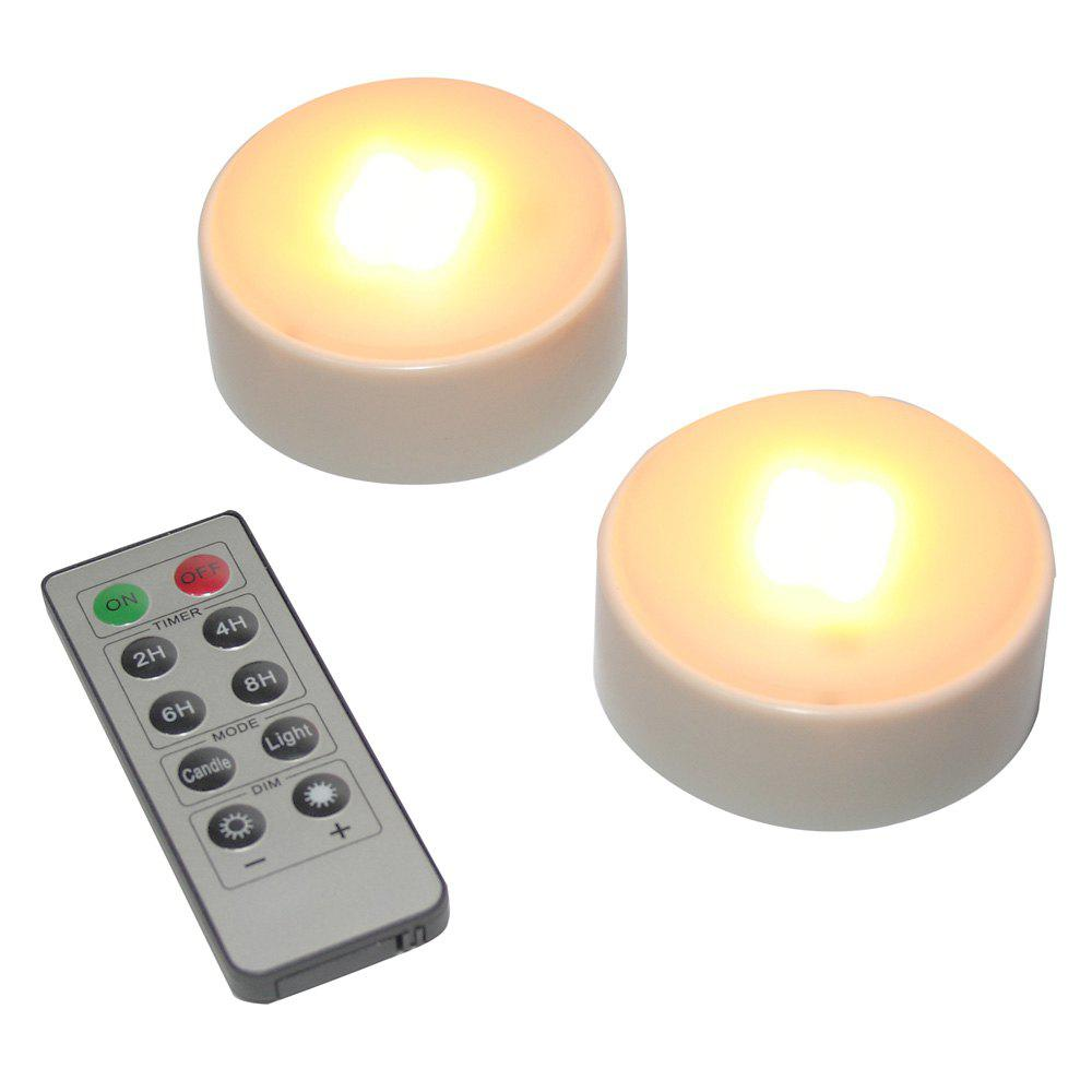 Affordable Set of Two Pumpkin Lights with remote White