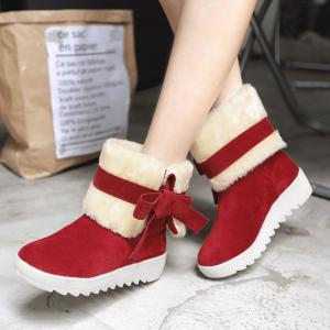2017 Корейский зимний Новый All-Match College Wind Tube Plus Velvet Snow Boots -