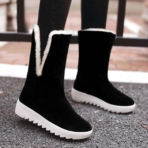2017 Korean Winter New All-match College Wind Tube Plus Velvet Snow Boots -
