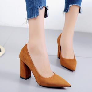 In The Autumn of 2017 New Simple All-match Pointed Set Foot Shoes -