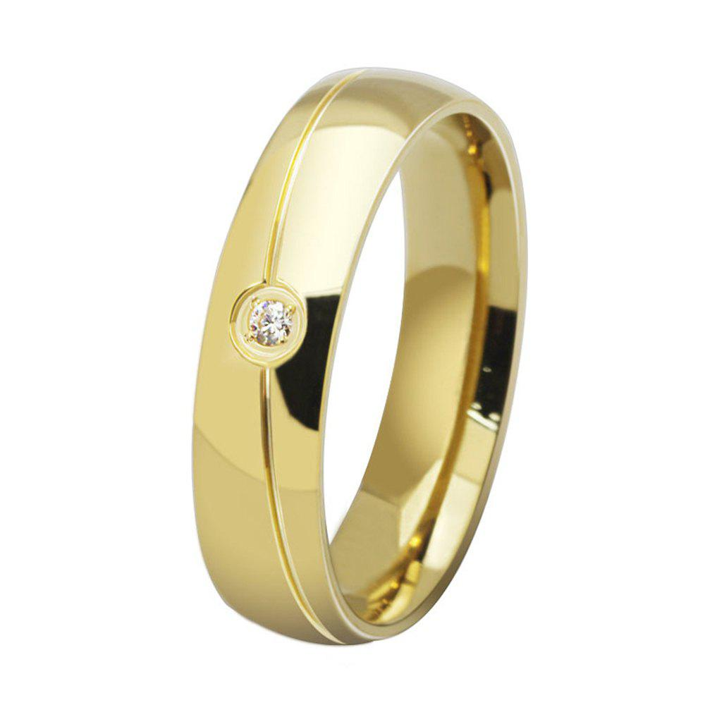 New Fashionable Titanium Steel Men and Women Ring Personalized Simple Diamond Jewelry