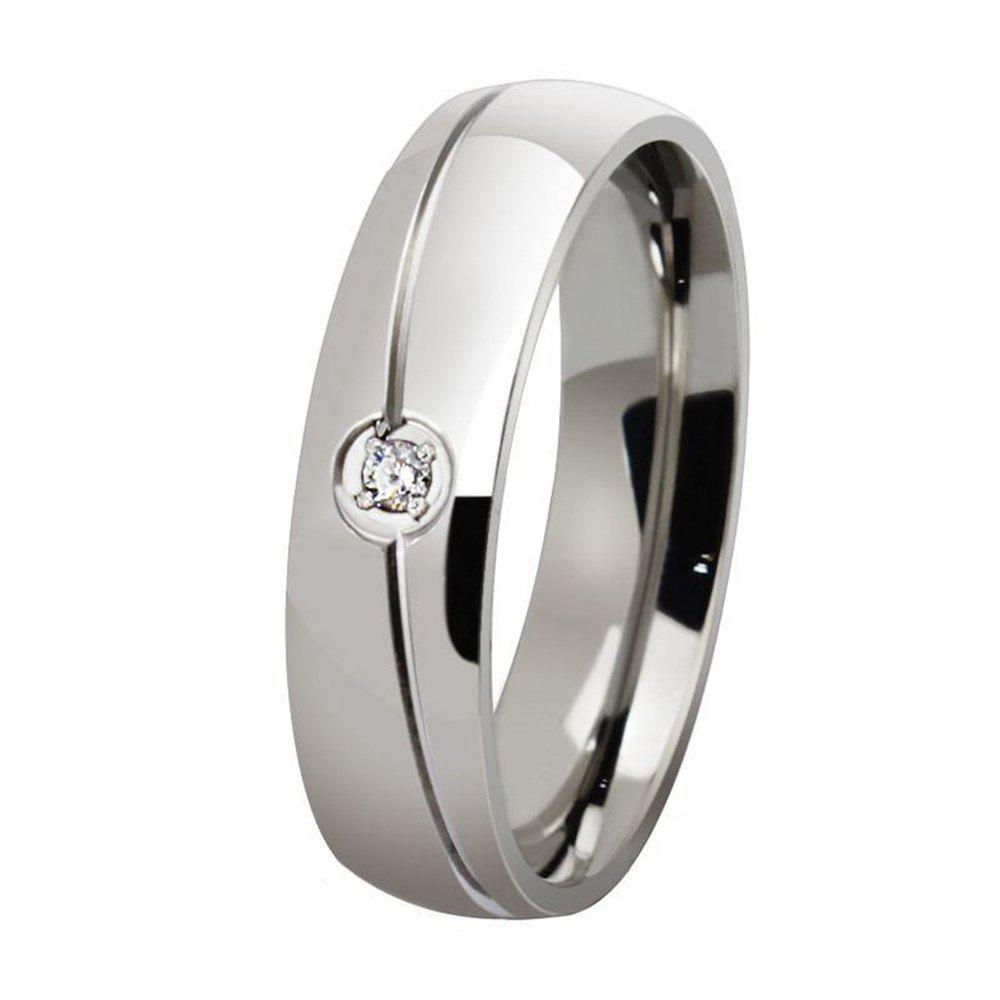 Fashionable Titanium Steel Men and Women Ring