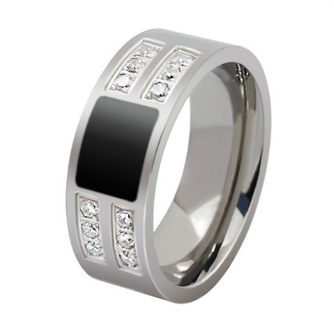 Affordable Gorgeous Shiny Ring with Zircon Men's Fashion Accessories