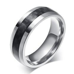 New Carbon Fiber Men's Ring Simple Wild Stainless Steel Jewelry -