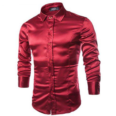 Men 39 s clothing cheap men 39 s fashion clothing online store for Wine colored mens dress shirts