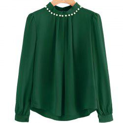 Fashion Nail Bead Chiffon Shirt -