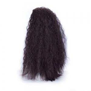60cm Long Wavy Curly Natural Black / Golden Blonde Cosplay Synthetic Hair Wig -