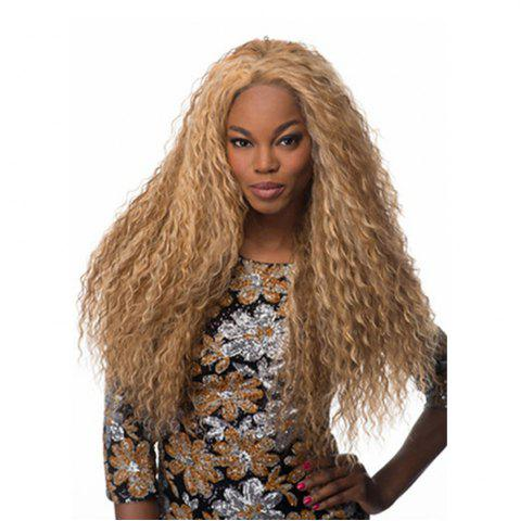 New 60cm Long Wavy Curly Natural Black / Golden Blonde Cosplay Synthetic Hair Wig