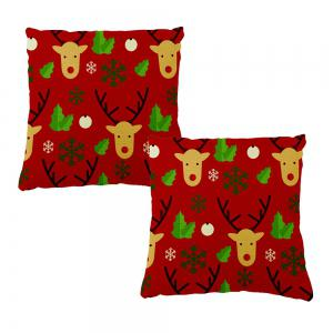 Soft Pillowcase Christmas Home Decor Elk Pillow Cover -