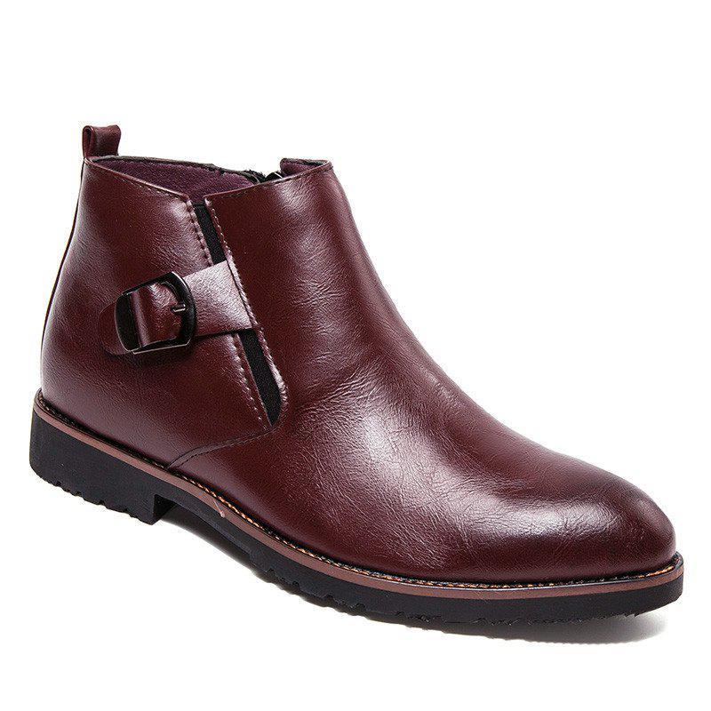 Chic Single Pointed Martin Short Men'S Boots