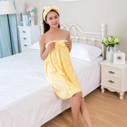 Cute Flannel Bath Towel Lovely Women's Bathrobes -