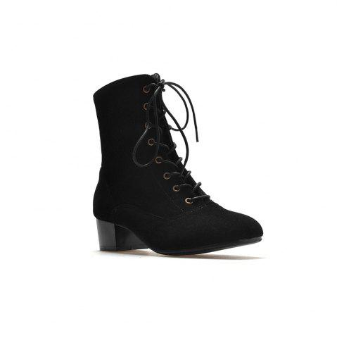 Hot Miss Shoe B05 New Style Square Head Show Thin Boots with Short Boots