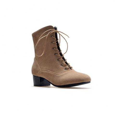 Online Miss Shoe B05 New Style Square Head Show Thin Boots with Short Boots