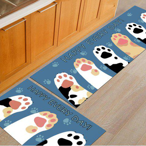 bleu l ger 50x160cm tapis de plancher de cuisine de cartoon tapis de porte lavable antid rapant. Black Bedroom Furniture Sets. Home Design Ideas