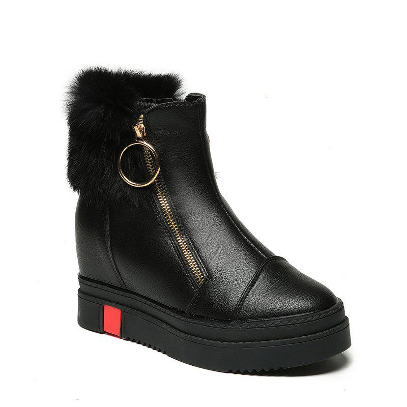 Fancy 2017 New Slope with High-Top Casual Boots Female