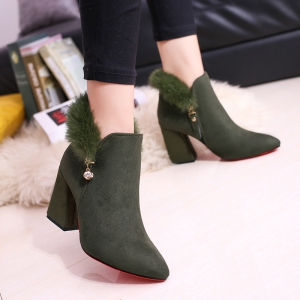 New Rough with High-Heeled Fur Women'S Boots -