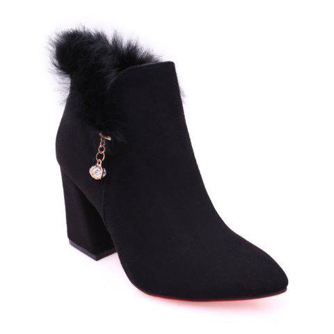 Best New Rough with High-Heeled Fur Women'S Boots