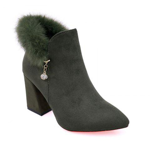 Shop New Rough with High-Heeled Fur Women'S Boots