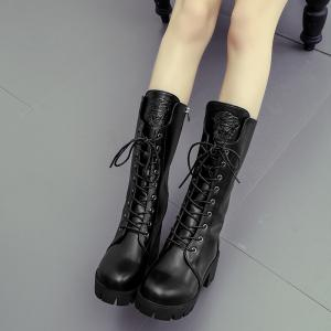 2017 New Thick Heel with Women'S Knight Boots -